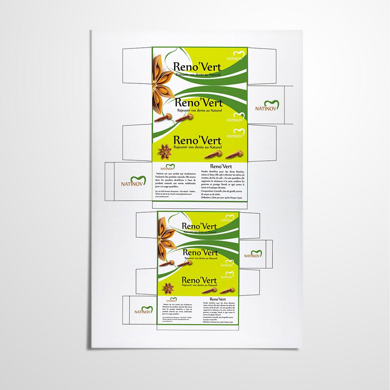 Nationov Reno'vert Packaging