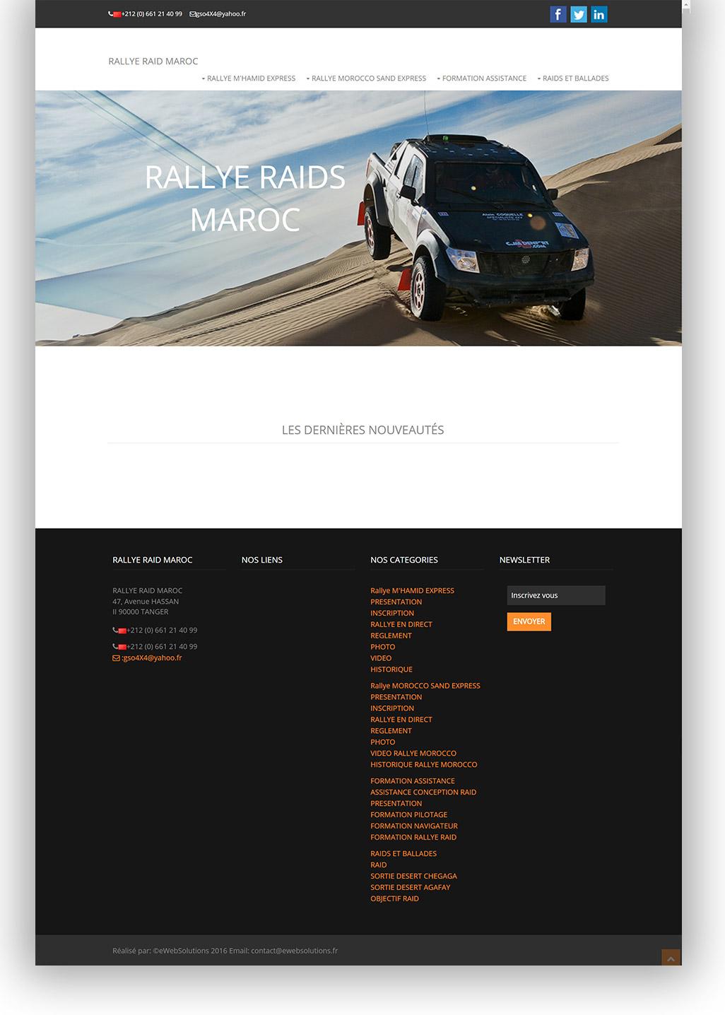 Rallye raids Maroc