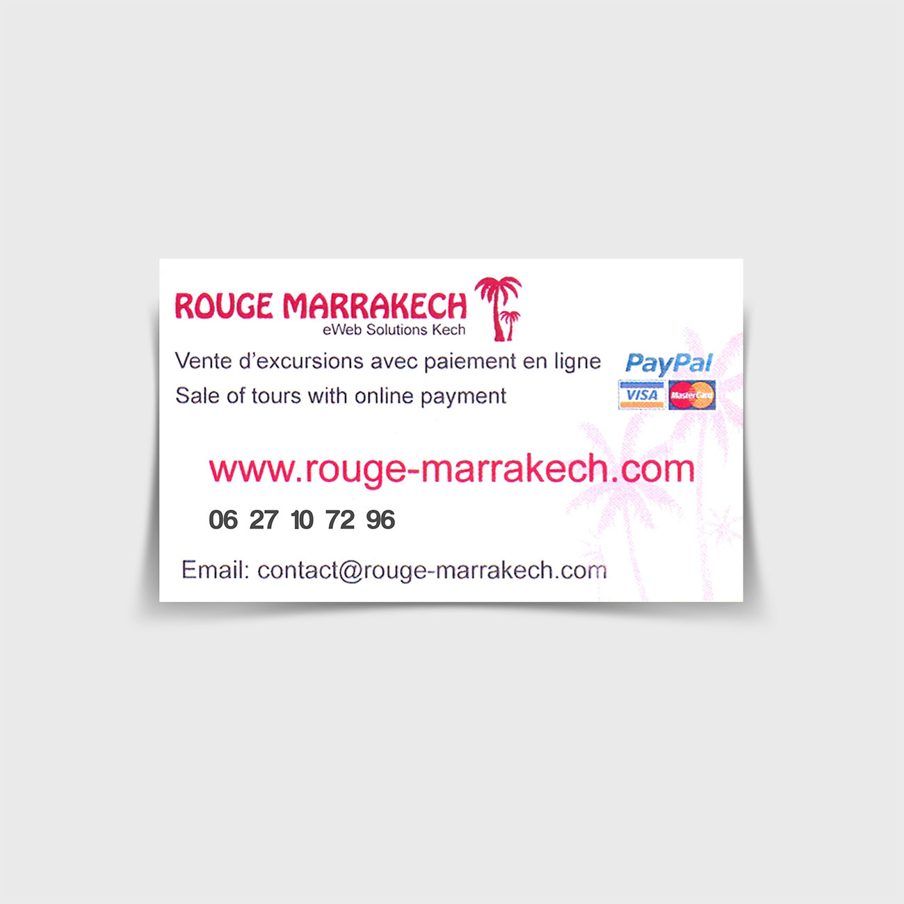 Rouge Marrakech carte visite