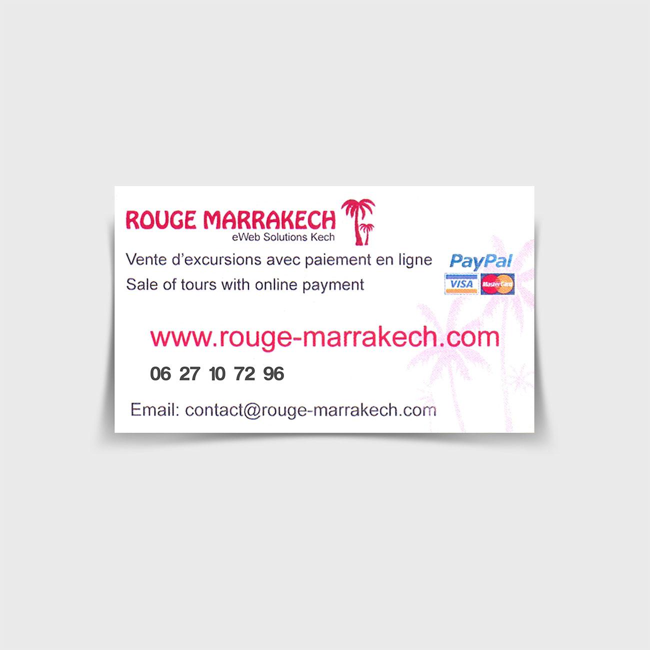Rouge Marrakech carte visite