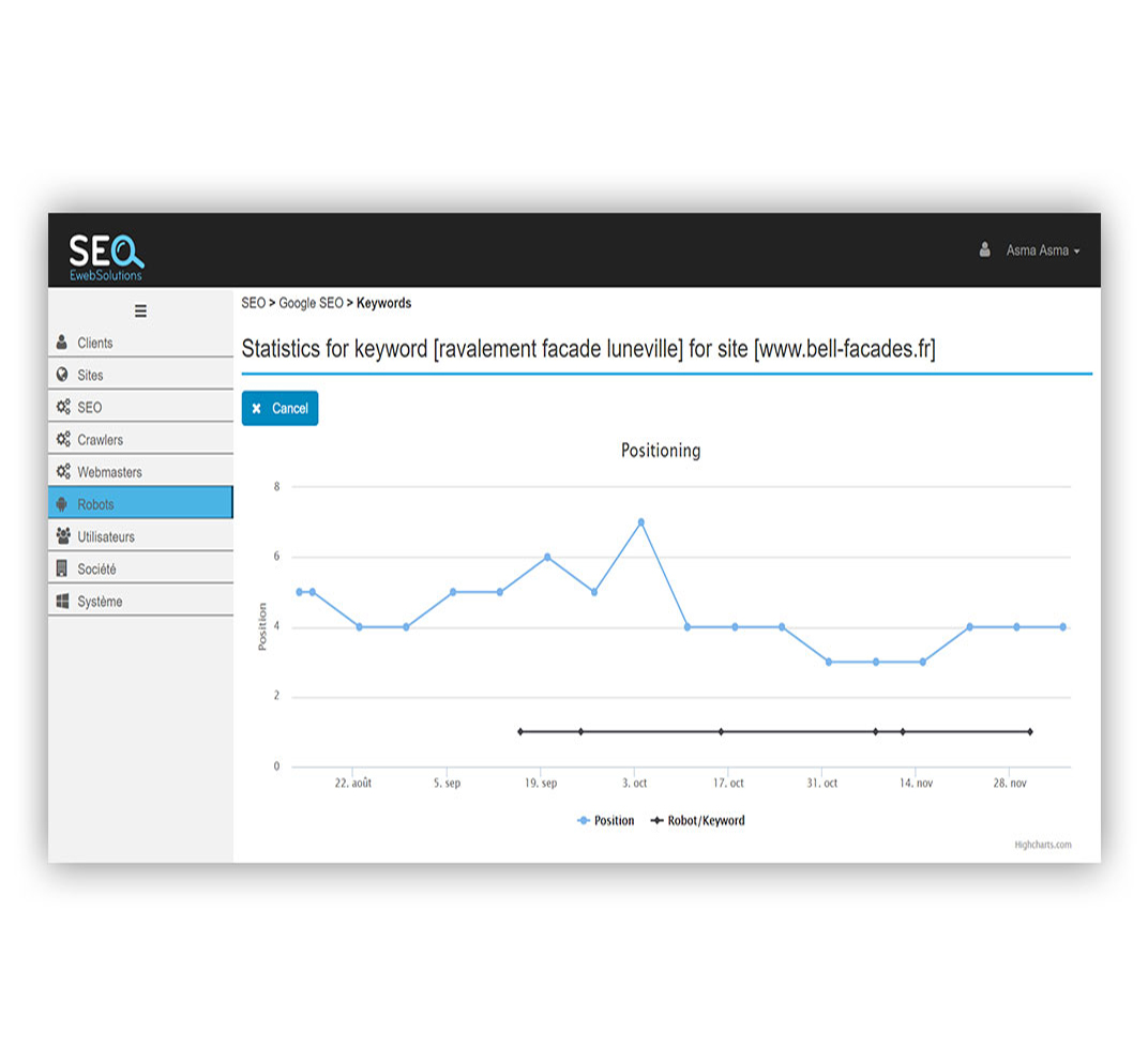 SEO Application Web